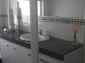 Green bathroom after
