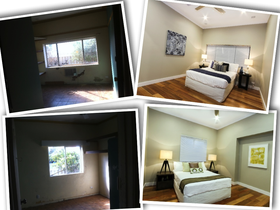 Before and after bedrooms
