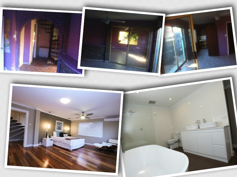 Before and After Master bedroom and ensuite