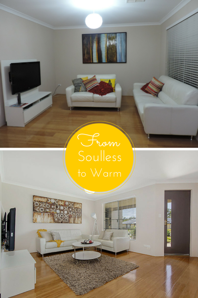 Lounge room #before and after
