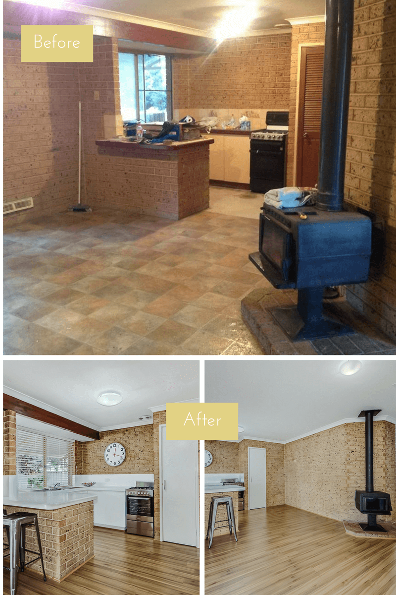 before and after, renovation, flippinghouses, renovatingforprofit